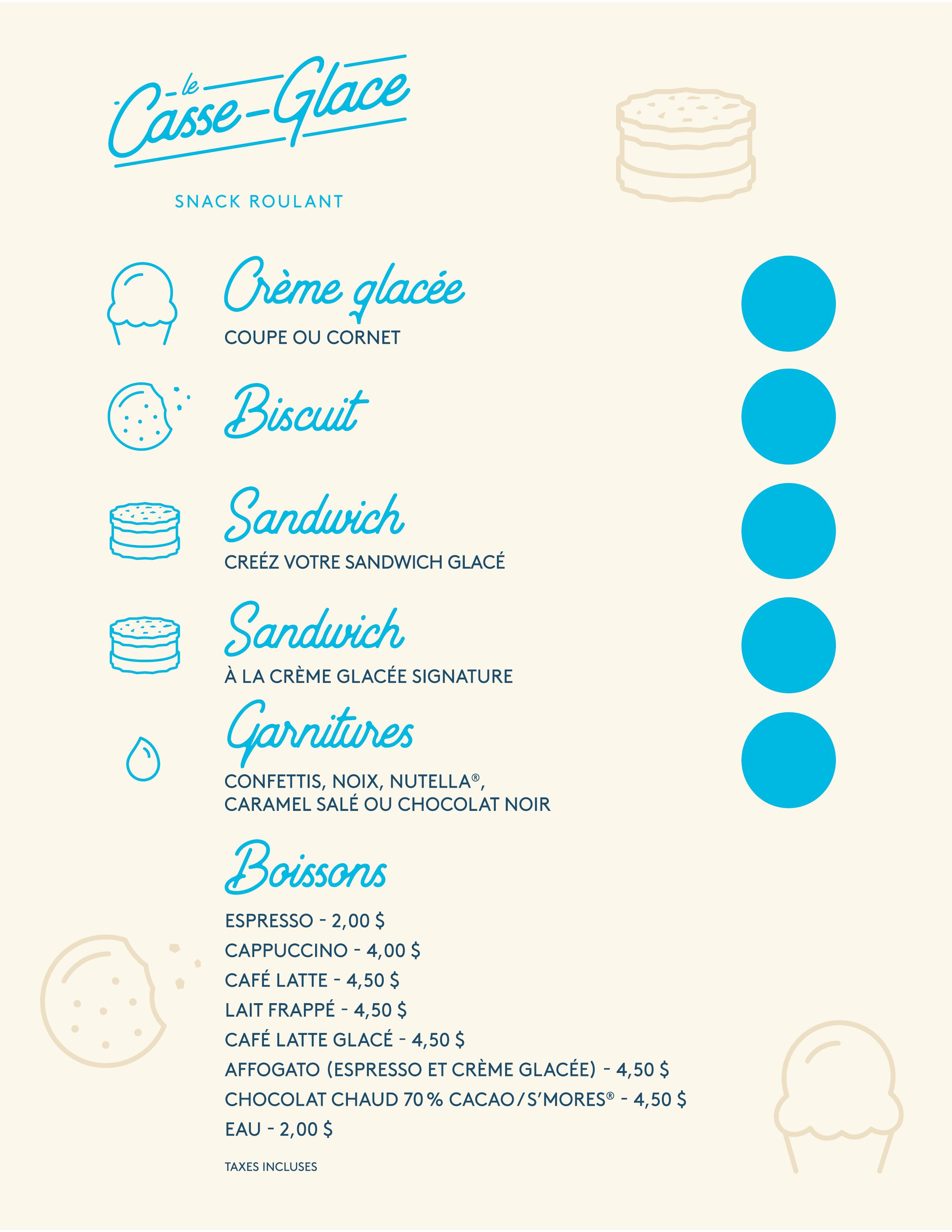 Menu Le Casse-Glace